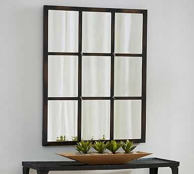"Eagan Multipanel Small Mirror, 28 x 33"", Bronze Finish - Pottery Barn"