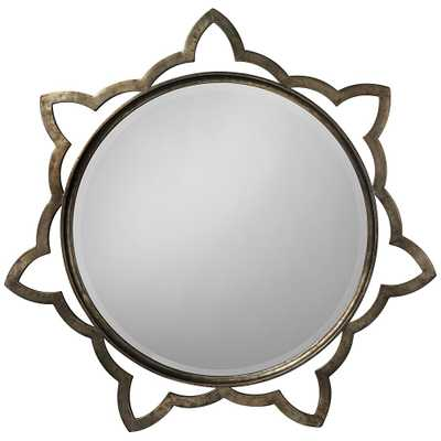 """Jamie Young Sante Antique Silver 36"""" Round Wall Mirror - Style # 19T89 - Lamps Plus"""