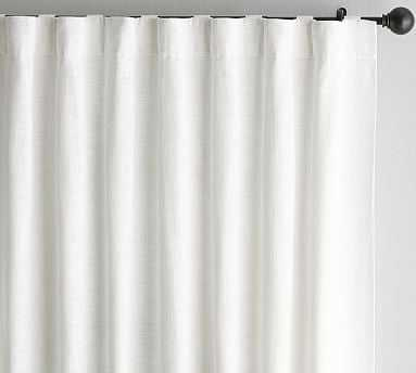 "Seaton Textured Cotton Rod Pocket Curtain, 50 X 108"", White. cotton lining - Pottery Barn"