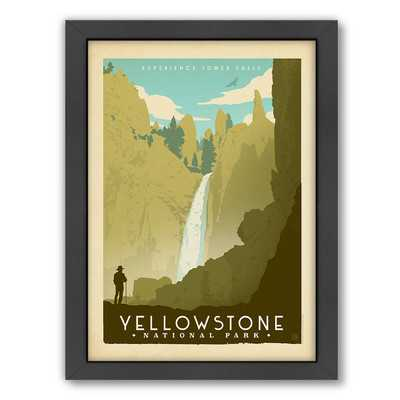 National Park Yellowstone 02 Framed Vintage Advertisement - Wayfair