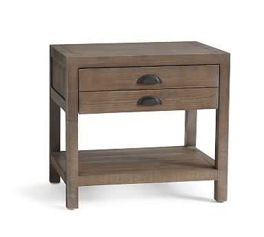 Architects Reclaimed Wood End Table, Astorian Gray - Pottery Barn
