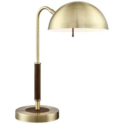 Lite Source Clouseau Antique Brass Metal Desk Lamp - Lamps Plus