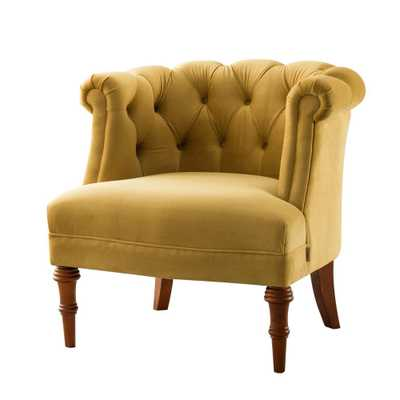 Katherine Gold Tufted Accent Chair - Home Depot