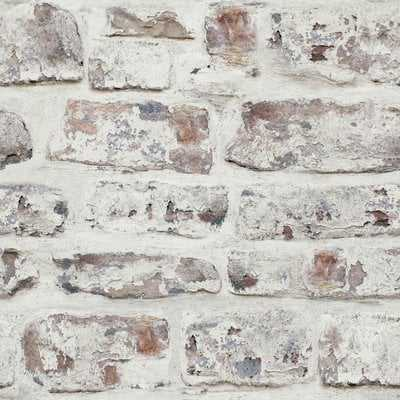 """Alvara 34.45' x 20.87"""" Brick Wallpaper Roll - AllModern"""