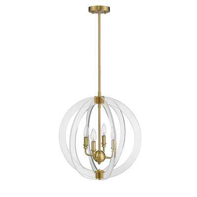Isabelle 4-Light Globe Chandelier - Wayfair