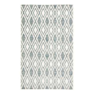 "Blue and White Lattice Lahana Indoor Outdoor Patio Rug - 5Ftx7Ft6"" by World Market 5Ftx7Ft6"" - World Market/Cost Plus"
