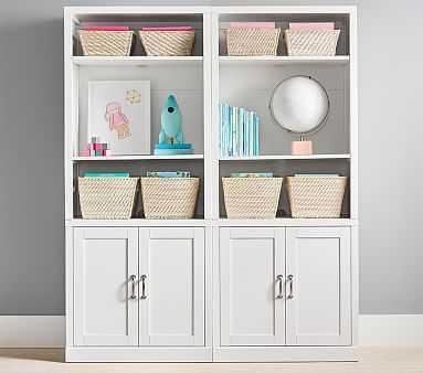 Preston 2 Bookcase Hutch, 2 Cabinet Base Set, Simply White, UPS - Pottery Barn Kids