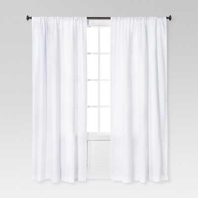 "Farrah Curtain Panel White (54""x84"") - Threshold - Target"