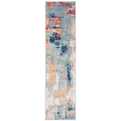 Safavieh Jasper Grey/Red 2 ft. x 10 ft. Runner Rug - Home Depot