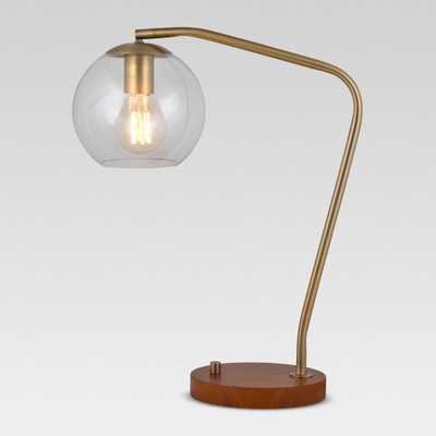 Madrot Glass Globe Desk Lamp Brass Includes Energy Efficient Light Bulb - Project 62 - Target