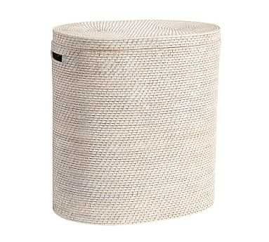 Tava Double Hamper, White Wash - Pottery Barn