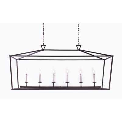 Lancaer Openwork Linear 6-Light Square/Rectangle Chandelier - Wayfair