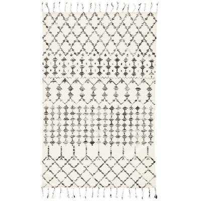 Pardue Hand-Knotted Wool/Silk Beige Area Rug - AllModern