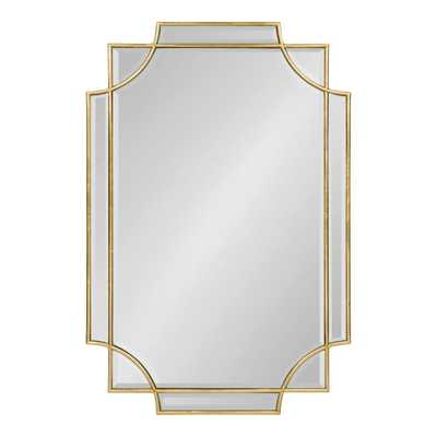 Minuette Scalloped Gold Wall Mirror - Home Depot