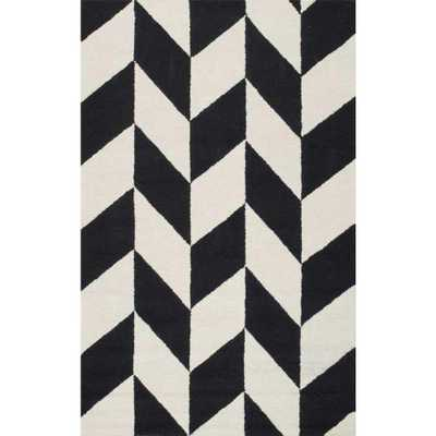 Katte Black and White Area Rug - Home Depot