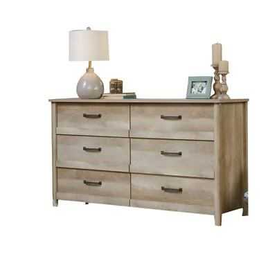 Sauder Cannery Bridge 6 Drawer Dresser in Lintel Oak - eBay