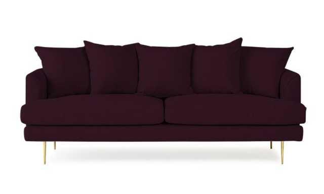Purple Aime Mid Century Modern Sofa - Genova Purple - Joybird