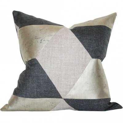 Kubus Argent - 22x22 pillow cover (square - medium/large) - Arianna Belle