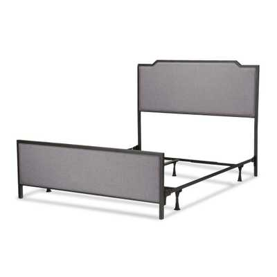 Bayview Metal and Upholstered Bed - Black Pearl - King - Fashion Bed Group - Target