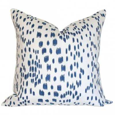 Les Touches Blue - 26x26 pillow cover / pattern on both sides - Arianna Belle