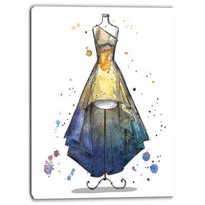 Mannequin with Long Dress Digital Graphic Art on Wrapped Canvas - Wayfair