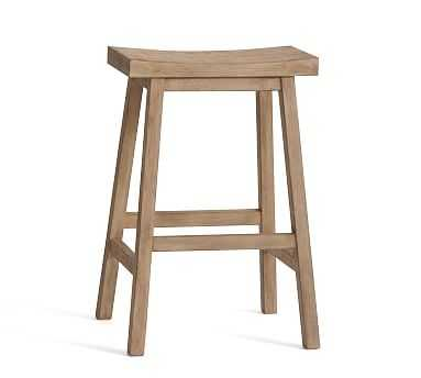 Tibetan Counter Height Barstool, Seadrift - Pottery Barn