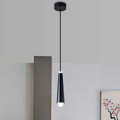 VONN Lighting Expression 5-Watt Black Integrated LED Single Pendant Lighting Fixture - Home Depot