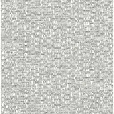 NuWallpaper Poplin Texture Grey Peel and Stick Wallpaper - Home Depot