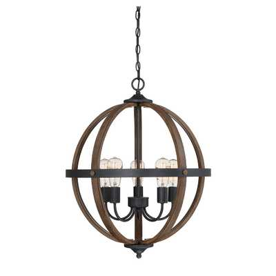 Filament Design 5-Light Wood Chandelier - Home Depot