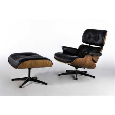 Sandiford Mid Century Lounge Chair and Ottoman - Wayfair