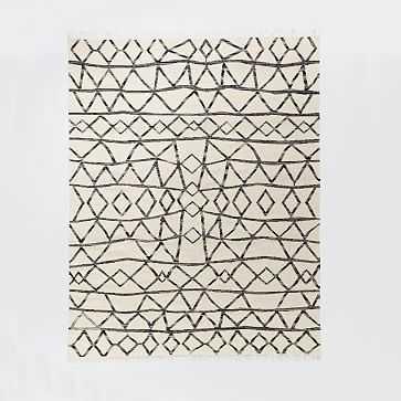 Torres Wool Kilim, 8'x10', Iron - West Elm