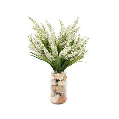 Heather Floral Arrangements in Mason Jar - Birch Lane