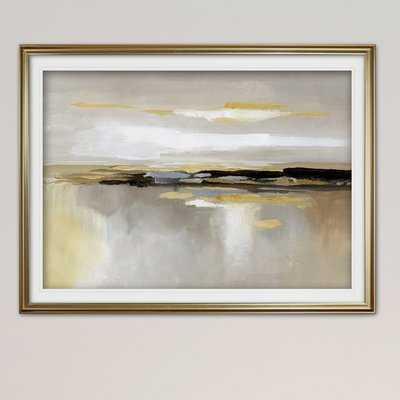 'Silver Lining' Framed Acrylic Painting Print - Wayfair