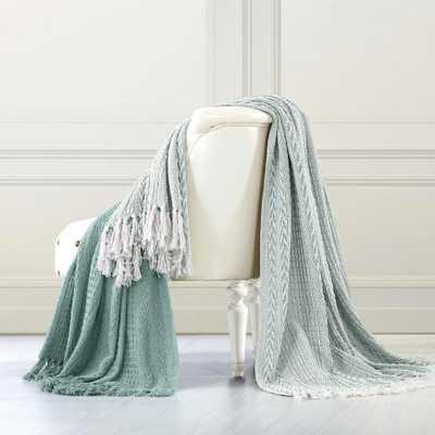 2-Pack Batik Aqua (Blue) 100% Cotton Throw - Home Depot