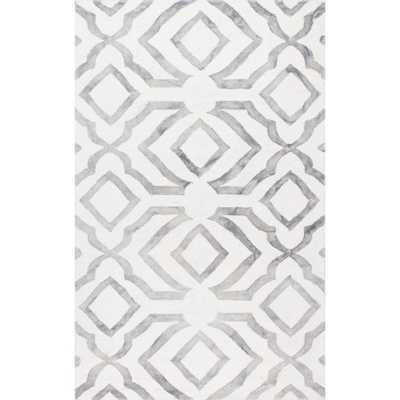 Baggett Grey 6 ft. x 9 ft. Area Rug - Home Depot