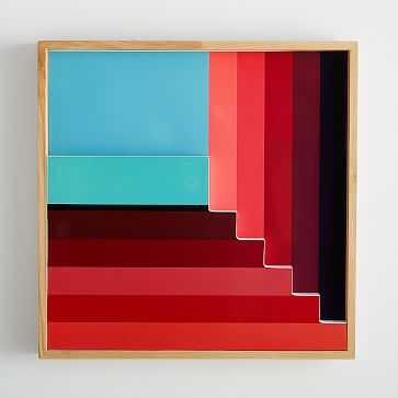 Margo Selby Colorblock Lacquer Wall Art, Red - West Elm