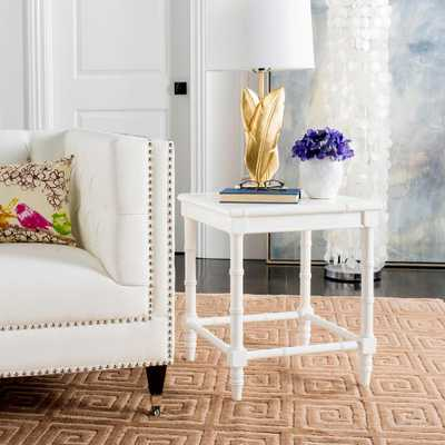 Liviah White Side Table - Home Depot