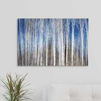 'Birches in Spring' Photographic Print on Canvas - Wayfair