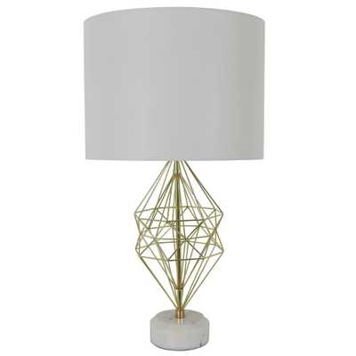 Decor Therapy Geordi 31 in. Gold Marble Table Lamp with Shade - Home Depot