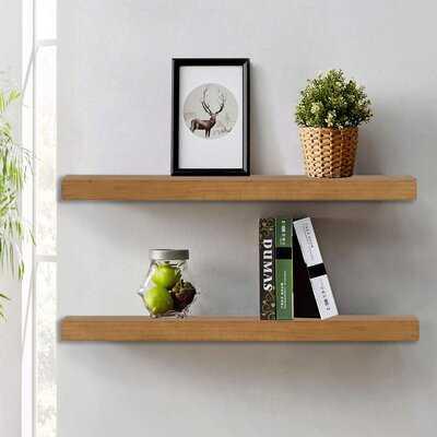 Estancia Wood Floating Shelf (set of 2) - Wayfair