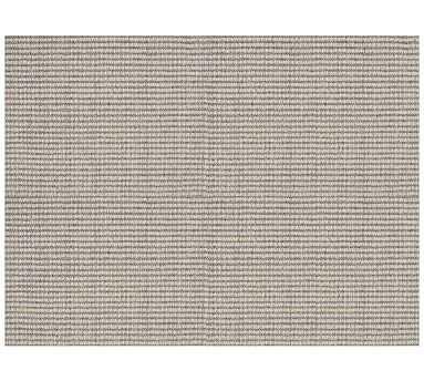 Arlo Broadloom Rug, 5 x 8', Heathered Gray/Ivory - Pottery Barn