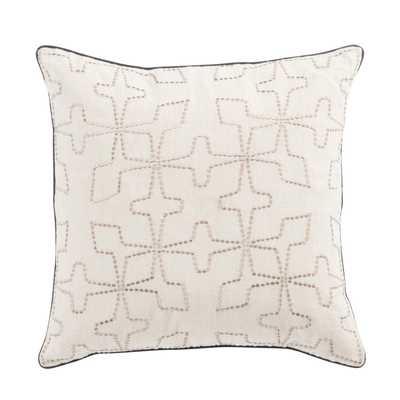 "Design (US) Cream 22""X22"" Pillow - Collective Weavers"