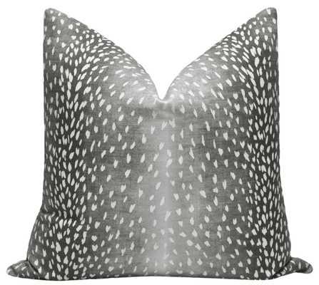 "Antelope Linen Print // Charcoal - 18"" X 18"" - Little Design Company"