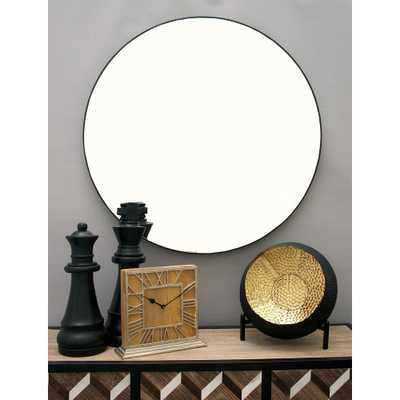 36 in. Modern Circular Black Wall Mirror - Home Depot