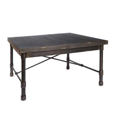 Oxford Industrial Bronze Coffee Table - Home Depot