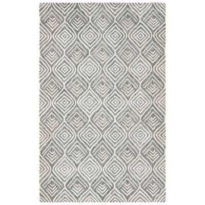 "Hidalgo Hand-Tufted Wool Ivory/Gray Area Rug - 8' x 10"" - Wayfair"