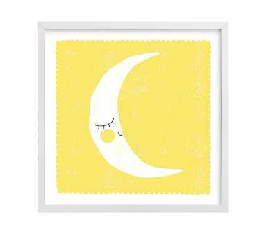 Sleepy Moon Wall Art by Minted(R), White, 16x16 - Pottery Barn Kids