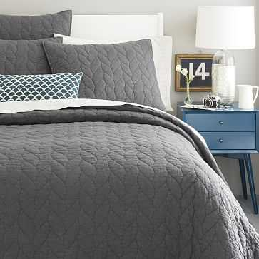 Braided Quilt, King, Slate - West Elm
