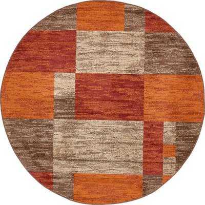 Bryan Burgundy/Orange Area Rug - Wayfair