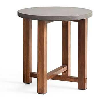 Abbott Side Table, Gray - Pottery Barn